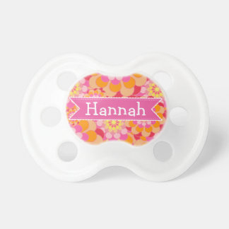 Pink  Baby Girl Name Pacifier Personalized