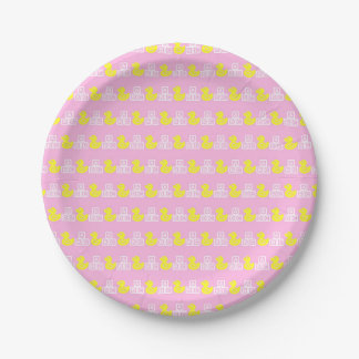 Pink Baby Girl Paper Plate