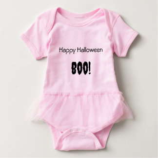 Pink Baby Girl Tutu Bodysuit Halloween Ghost.