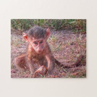 Pink Baby Monkey Jigsaw Puzzle