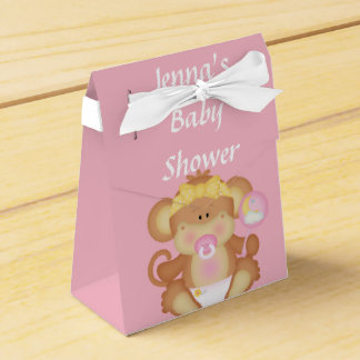 Pink Baby Mouse Shower Favor Box