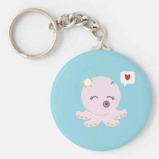 Pink Baby Octopus Keychain
