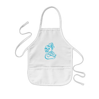 Pink baby outline kids apron