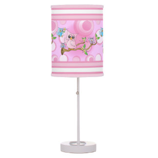 Pink Baby Owl | Nursery Theme Table Lamp