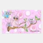 Pink Baby Owl | Shower Theme Sticker