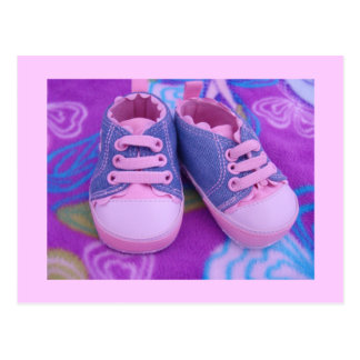 Pink Baby postcards Personalize Girl s Shoes