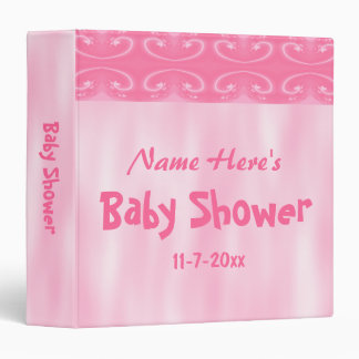 Pink Baby Shower Binder