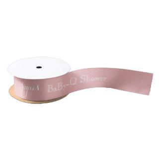 Pink Baby Shower Ribbon Customizable Name Satin Ribbon