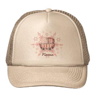 Pink Baby Snowflake Trucker Hats