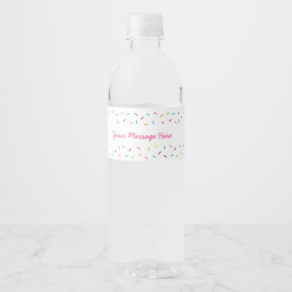 Pink Baby Sprinkle Water Bottle Label
