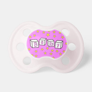 Pink Baby Stars Pacifier