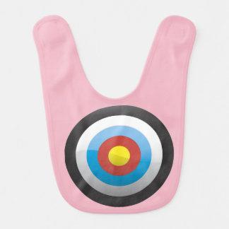 Pink Baby Target Bib