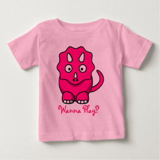 Pink Baby Triceratops T-shirt