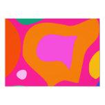 "Pink Background 5"" X 7"" Invitation Card"