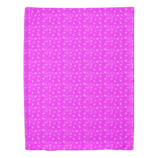 pink background duvet cover