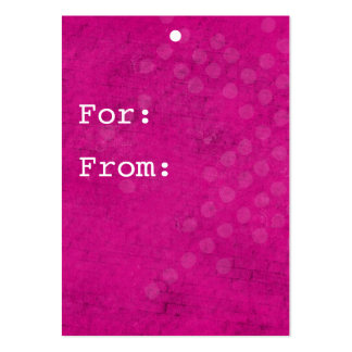 Pink Background Gift Tags Business Cards