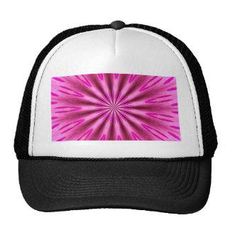 Pink background trucker hat