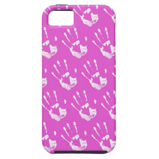 Pink background with handprint case for the iPhone 5