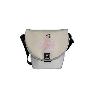 Pink ballerina bag by ORDesigns. Messenger Bag