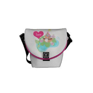 Pink ballerina birds bag by ORDesigns. Commuter Bag