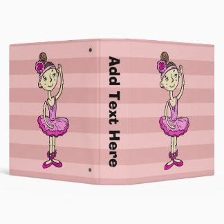 Pink Ballerina Girl 3 Ring Binder