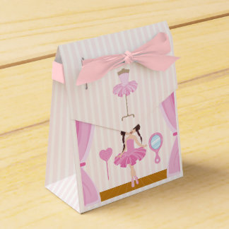 Pink Ballerina theme Birthday Party Guest Thanks Favor Box