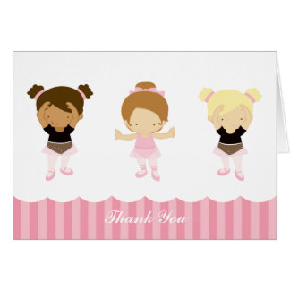 Pink Ballerinas Thank You Notes