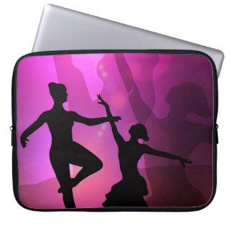 Pink Ballet Dancer Silhouette Laptop Sleeve