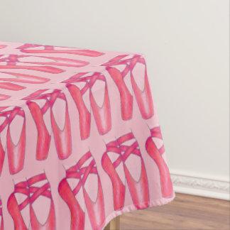 Pink Ballet Pointe Shoes Dance Recital Ballerina Tablecloth