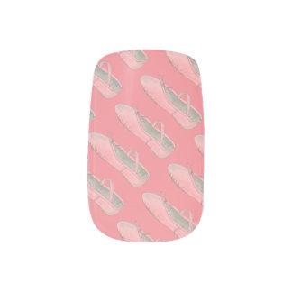 Pink Ballet Shoe Print Dance Teacher Ballerina Minx Nail Art