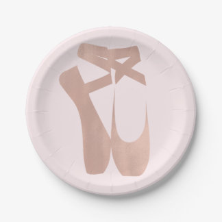 Pink Ballet Slippers Ballerina Birthday Party Paper Plate