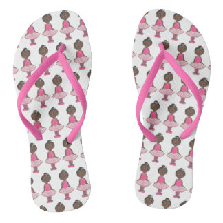 Pink Ballet Tutu Girl Ballerina Dance Teacher Flip Flops
