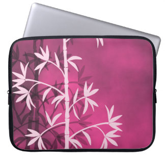 Pink bamboo pink computer sleeve