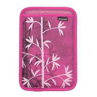 Pink bamboo pink iPad mini sleeves