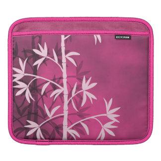 Pink bamboo pink iPad sleeves