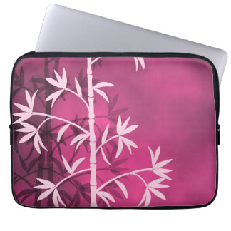 Pink bamboo pink laptop sleeve