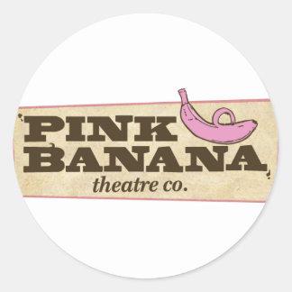 Pink Banana Round Sticker