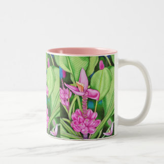Pink Bananas Watercolour Two-Tone Coffee Mug