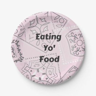 Pink Bandana Party Plates