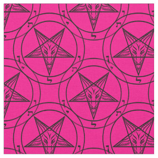 pink baphomet fabric