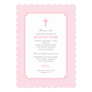 Pink Baptism Invitation | Baby Girl
