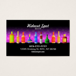 Pink Bar Business Cards
