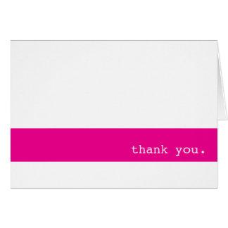 Pink Bar Thank You Notecard Note Card