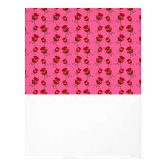 pink barbeque pattern personalized flyer