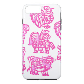 Pink Barnyard Animal Fun iPhone 7 Plus Case