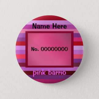 pink barrio text template 2 inch round button