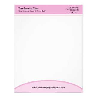 Pink Basic Professional Business Letterhead