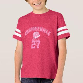 Pink Basketball   DIY Name and Number T-Shirt