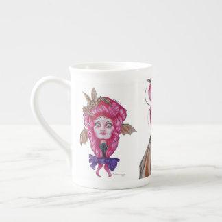 Pink Bat Lady Mug