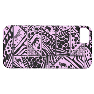 Pink Batik style I phone case